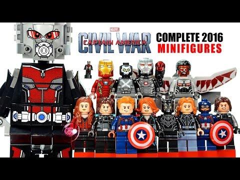 LEGO® Captain America: Civil War Marvel Super Heroes 2016 Complete Minifigures