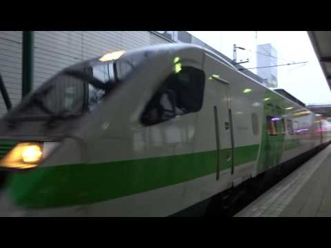 VR Pendolino 976 high-speed train arriving@Kupittaa Railway Station in Turku, FI, 01.04.2016 at 7:21