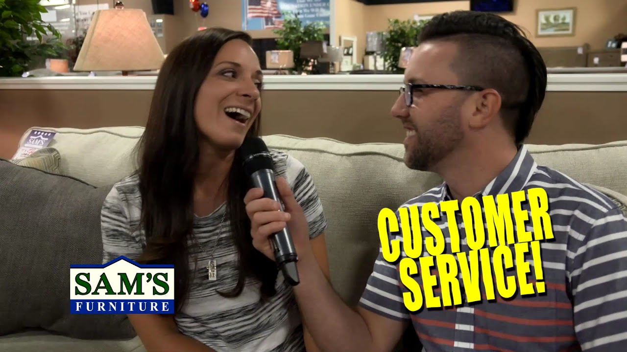 What Do Customer S Love About Sam S Furniture Commercial Youtube