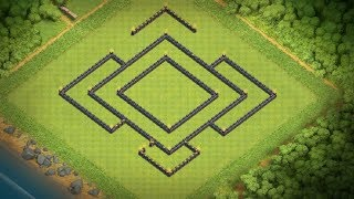 CLASH OF CLANS - Town Hall 9 (TH9) Trophy/War Base [WITH NEW UPDATE 2018]