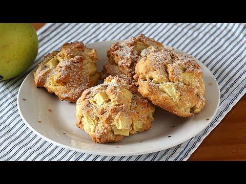 ¡Para desayuno o merienda! Galletas de manzana fáciles y rápidas. La masa ni se toca con las manos