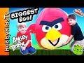 Worlds Biggest Angry Bird Surprise Egg! Toys Inside Red Bird + Trash Pack, Star Wars Hobbykidstv video
