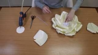Бесплатный видео мастер класс большие цветы из бумаги ПОДПИСЫВАЙТЕСЬ