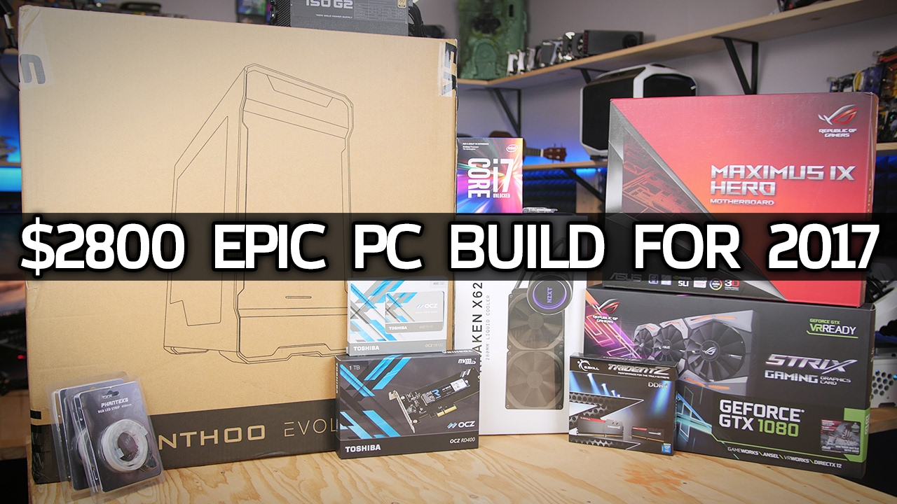 Building a $2800 7700K / GTX1080 Gaming System - January's RGB PC!