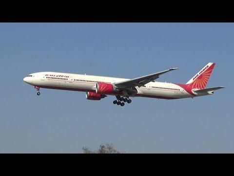 Air India Chicago flight landing in Delhi, India