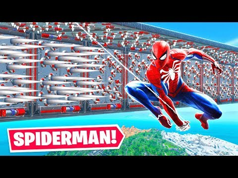 PLAYING The SPIDERMAN DEATHRUN (Fortnite)