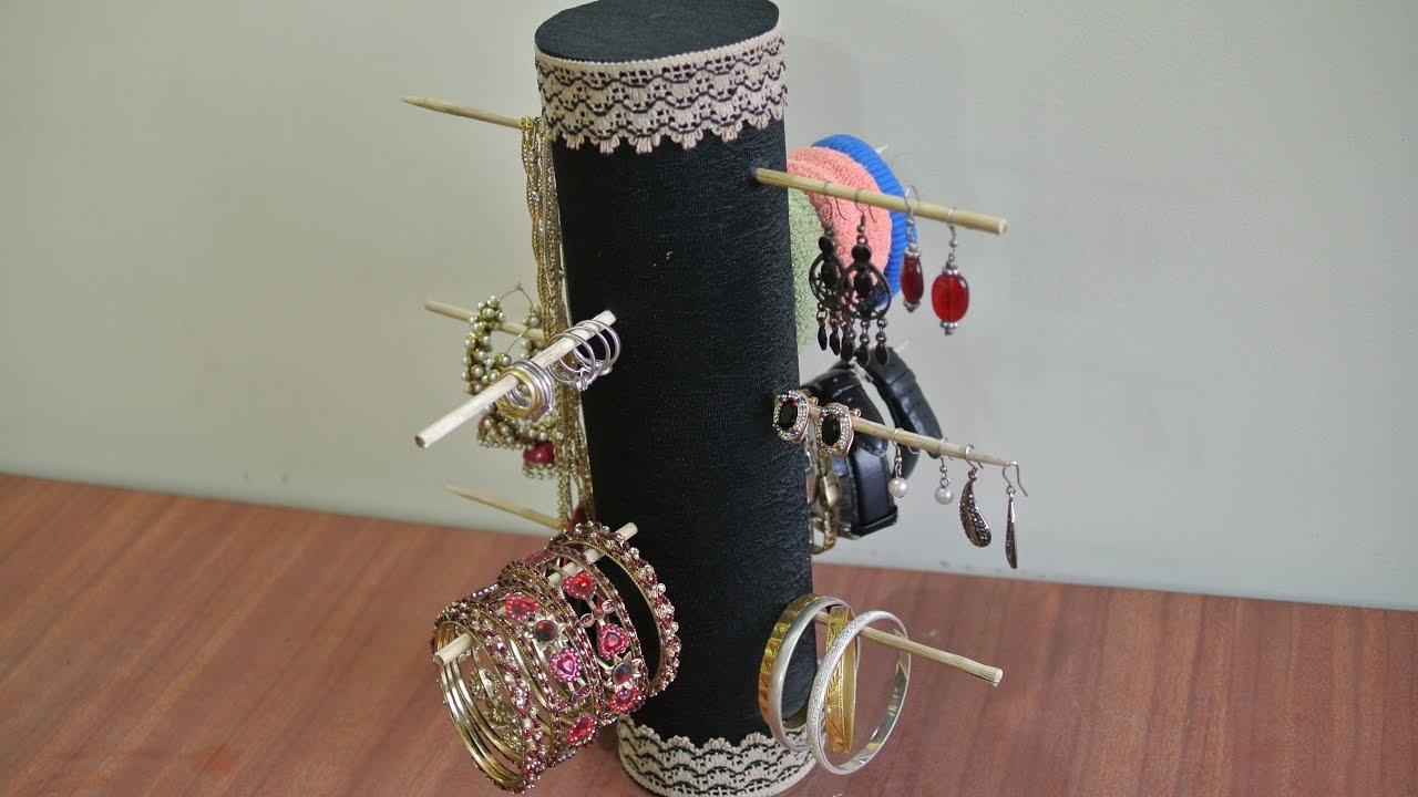 DIY Ecofriendly Best out of Waste Jewelry Organizer Holder