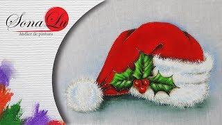 Gorro do Papai Noel – Pintura em Tecido por Sonalupinturas