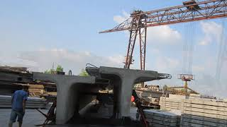 Перевозка ЖБИ Балки - длина 20 метров(Перевозка ЖБИ Балки - длина 20 метров. Компания ООО
