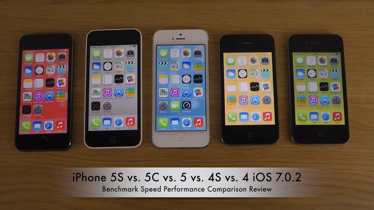 iphone 4 vs iphone 5s iphone 5s vs 5c vs 5 vs 4s vs 4 ios 7 0 2 benchmark 17345