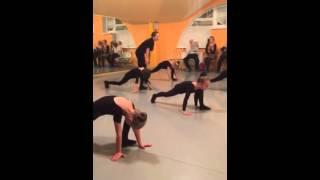 Фрагмент урока хореографии 2