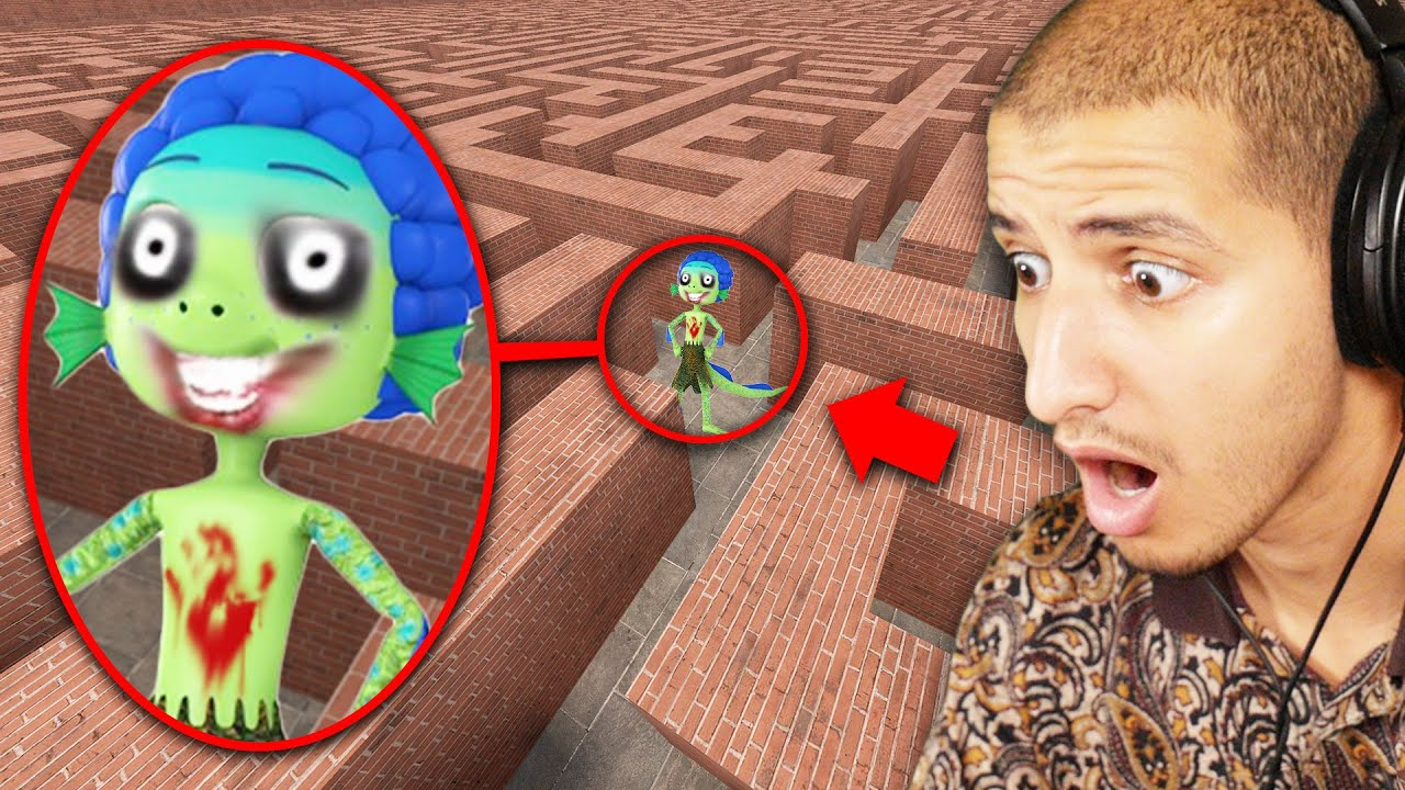 If You See CURSED LUCA in a MAZE, RUN AWAY FAST.. (Scary)