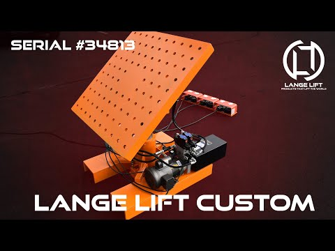 Electric Powered Tilting, Lifting, and Rotating Deck Ergonomic Lift Table