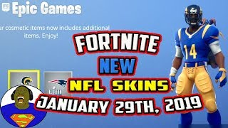 FORTNITE NEW NFL SUPERBOWL SKINS - NEW FORTNITE SKITS COMING SOON WITH JAYTOOICY