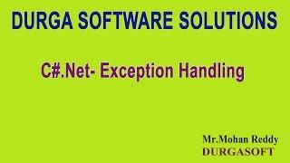 C# Net Exception Handling