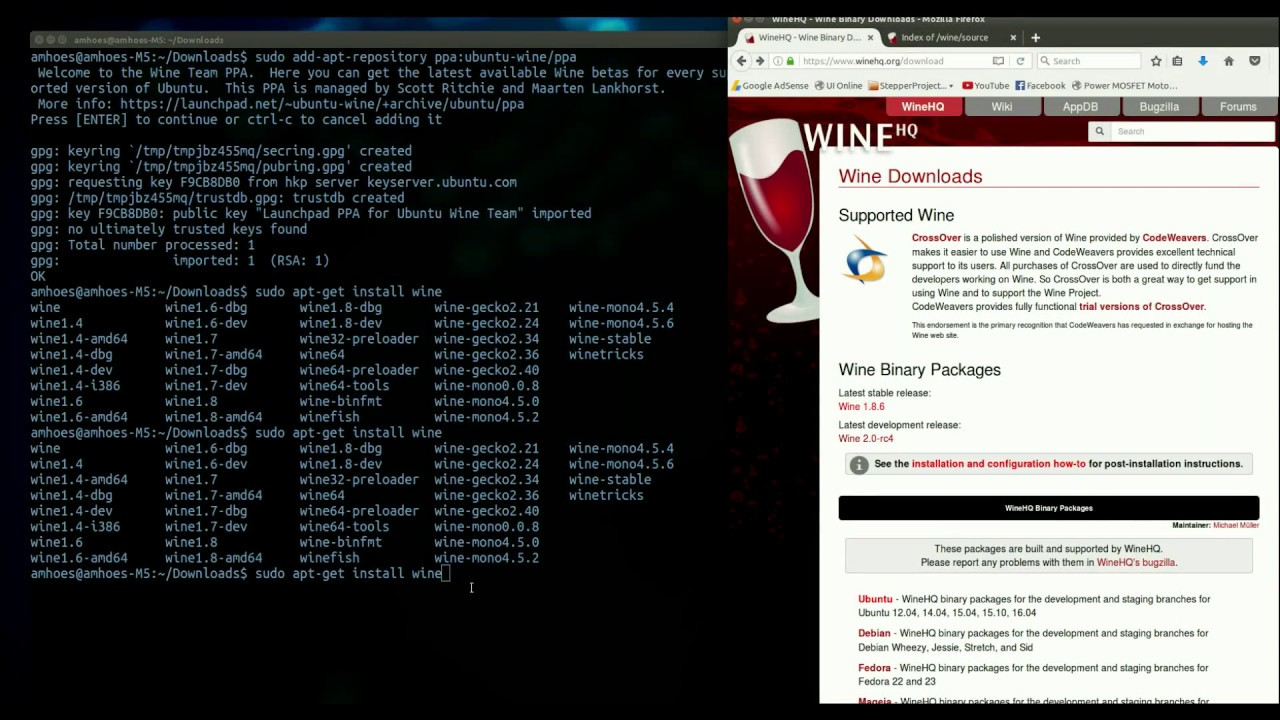 How to install Wine Software on Linux - Ubuntu