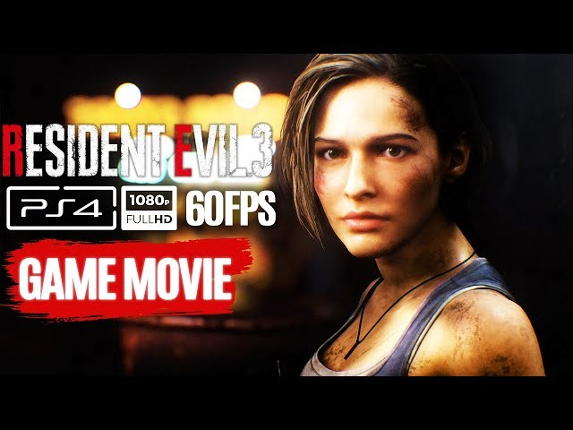 RESIDENT EVIL 3 REMAKE All Cutscenes (Game Movie) 1080p 60FPS