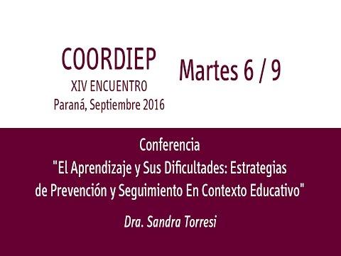 XIV Encuentro COORDIEP Parte 6 - Conferencia  - Dra. Sandra Torresi