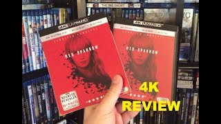 Red Sparrow 4K BLU RAY REVIEW + Unboxing