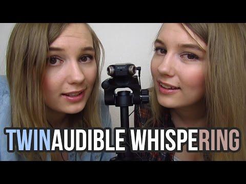 [BINAURAL ASMR] TWINaudible Whispering (unintelligible whispering)