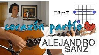 Corazón Partío Alejandro Sanz Tutorial Cover - Guitarra [Mauro Martinez]