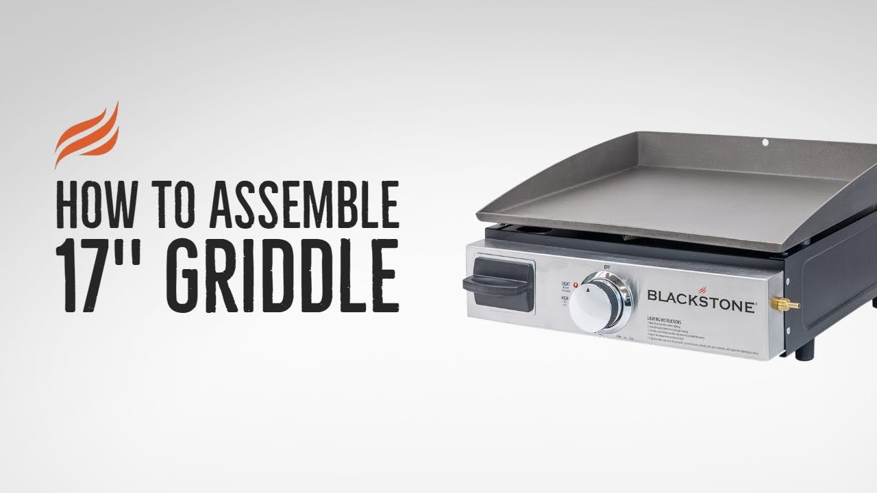 Blackstone 17 Quot Tabletop Griddle Assembly Youtube