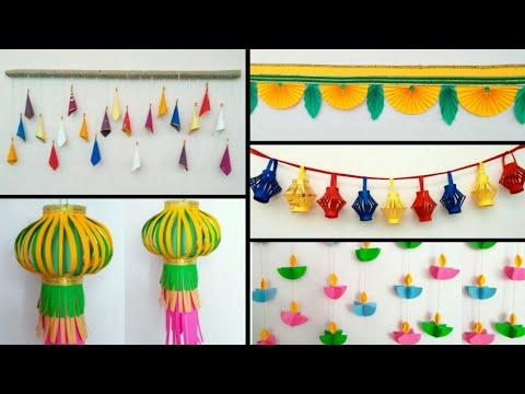 5 ideas of diwali decoration | diwali decoration ideas | paper toran | diwali craft
