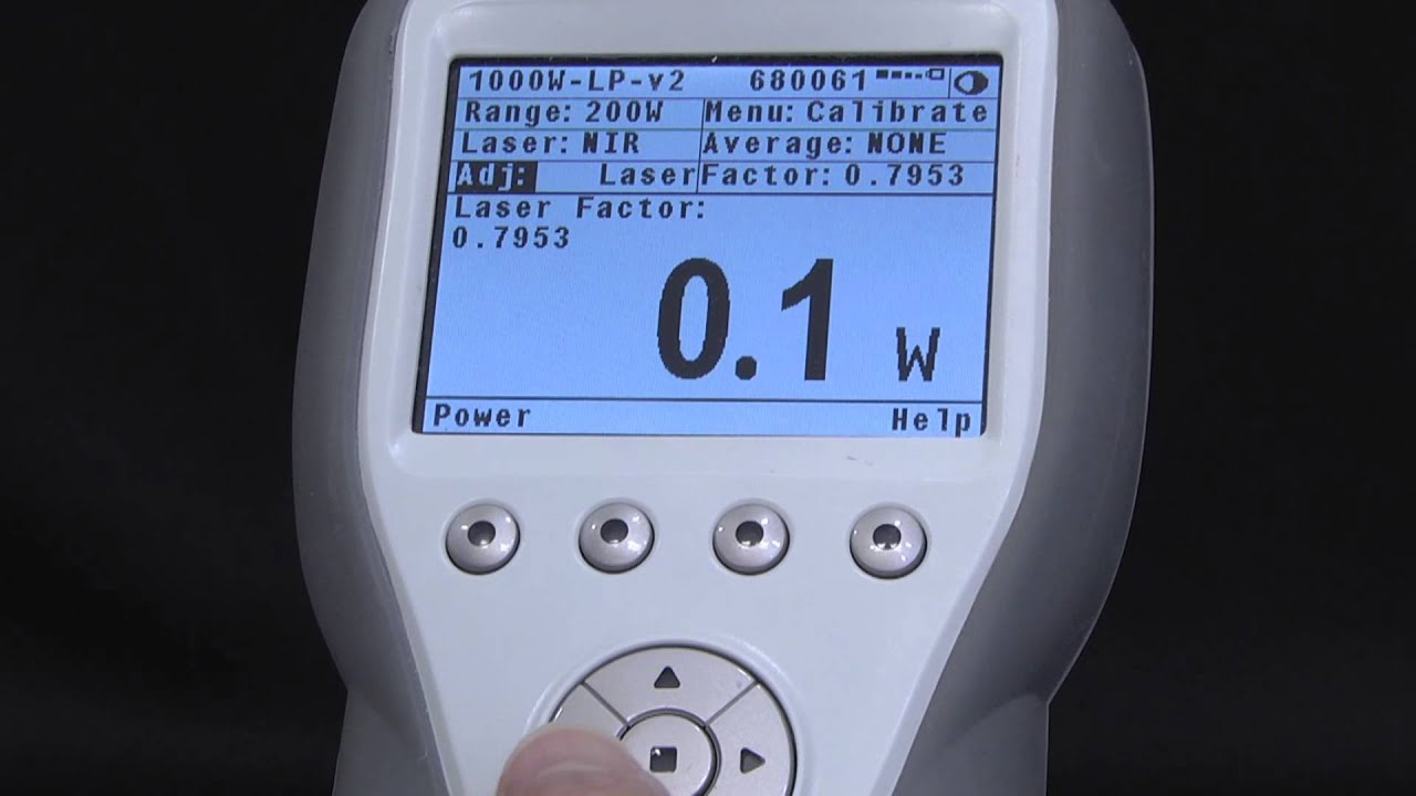 Laser Energy Meters : Calibration factors laser power energy meter youtube