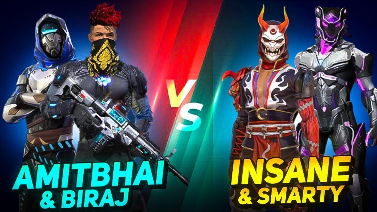 AmitBhai & Biraj Vs SRV Insane & Smarty || Clash Squad || Desi Army