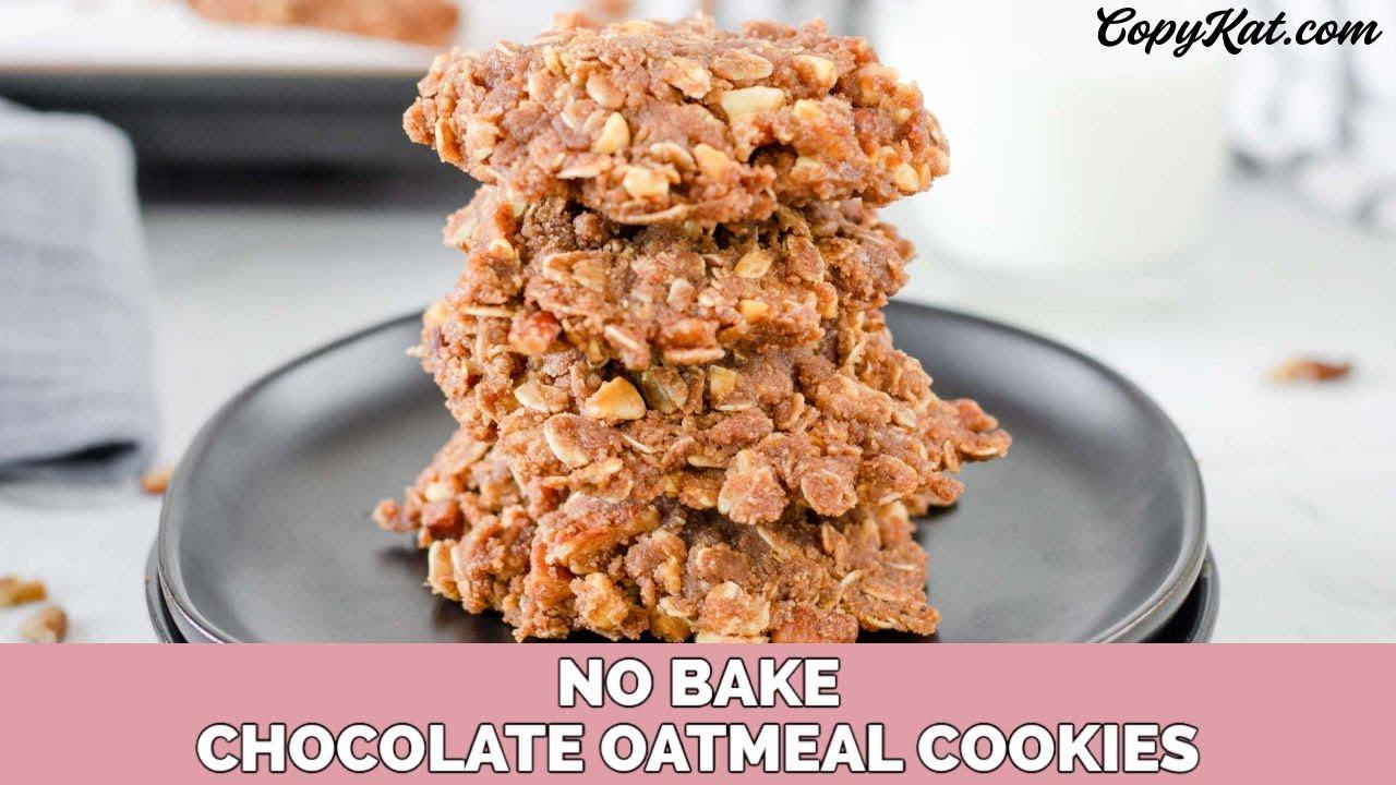 No Bake Oatmeal Cookies