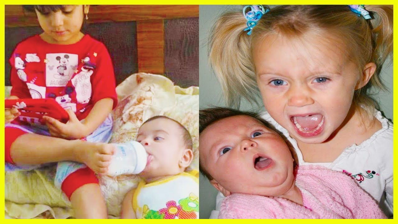 """❣️""""Sometimes being a sister is way better than being a princess."""" ❣️Funny and Cute Sibling Baby"""