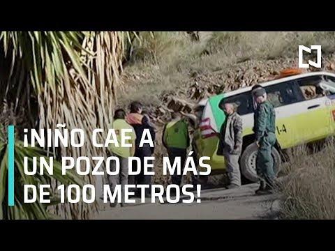 Niño cae a un pozo de más de 100 metros, en España - A las 3