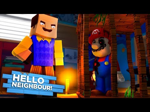 HELLO NEIGHBOUR  TRIES TO CREATE MARIO.EXE