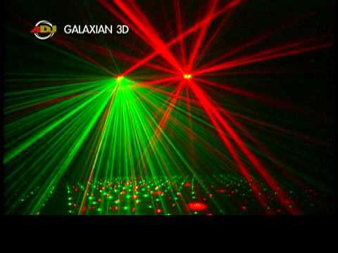 American Dj Galaxian 3d Youtube