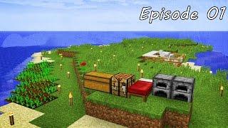 Minecraft เอาชีวิตรอด -  Episode 01 - เอาชีวิตรอดในวันแรกให้ได้