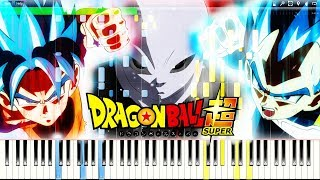 Dragon Ball Super Ost   Dream Tag Match (coordinated Attack) | Piano Tutorial