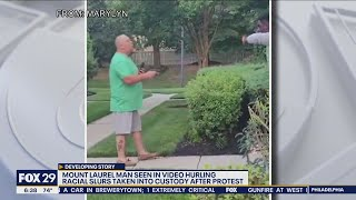 Racist rant caught on camera prompts protest outside man's home, criminal charges