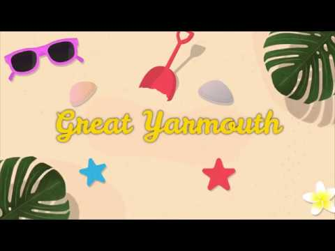 Great Yarmouth Seafront to the Market place. Filmed using Zh