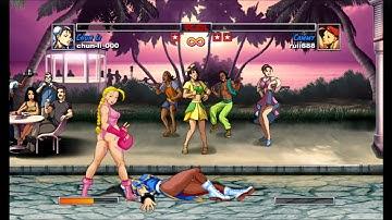 Super Street Fighter II Turbo HD remix Chun Li VS Cammy