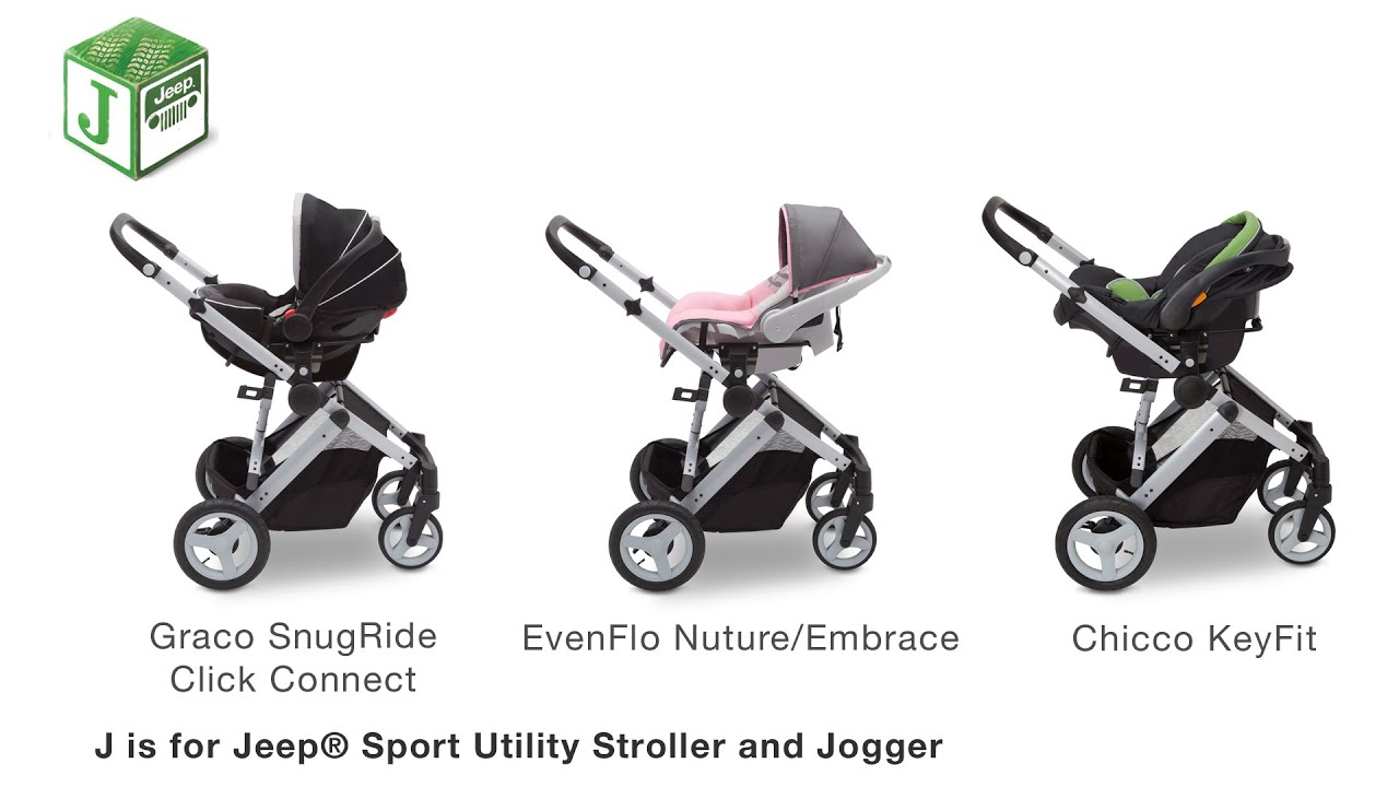 Pram Jogging Stroller How To Attach Car Seat To J Is For Jeep Sport Utility
