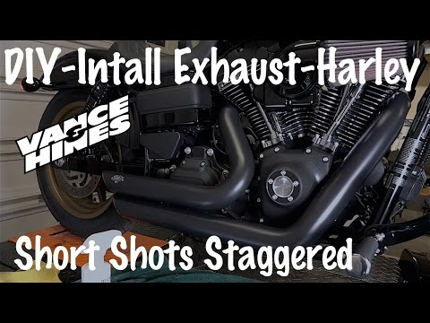 Install Vance & Hines Short Shots Staggered Exhaust on a Harley-Davidson | Sound Comparison