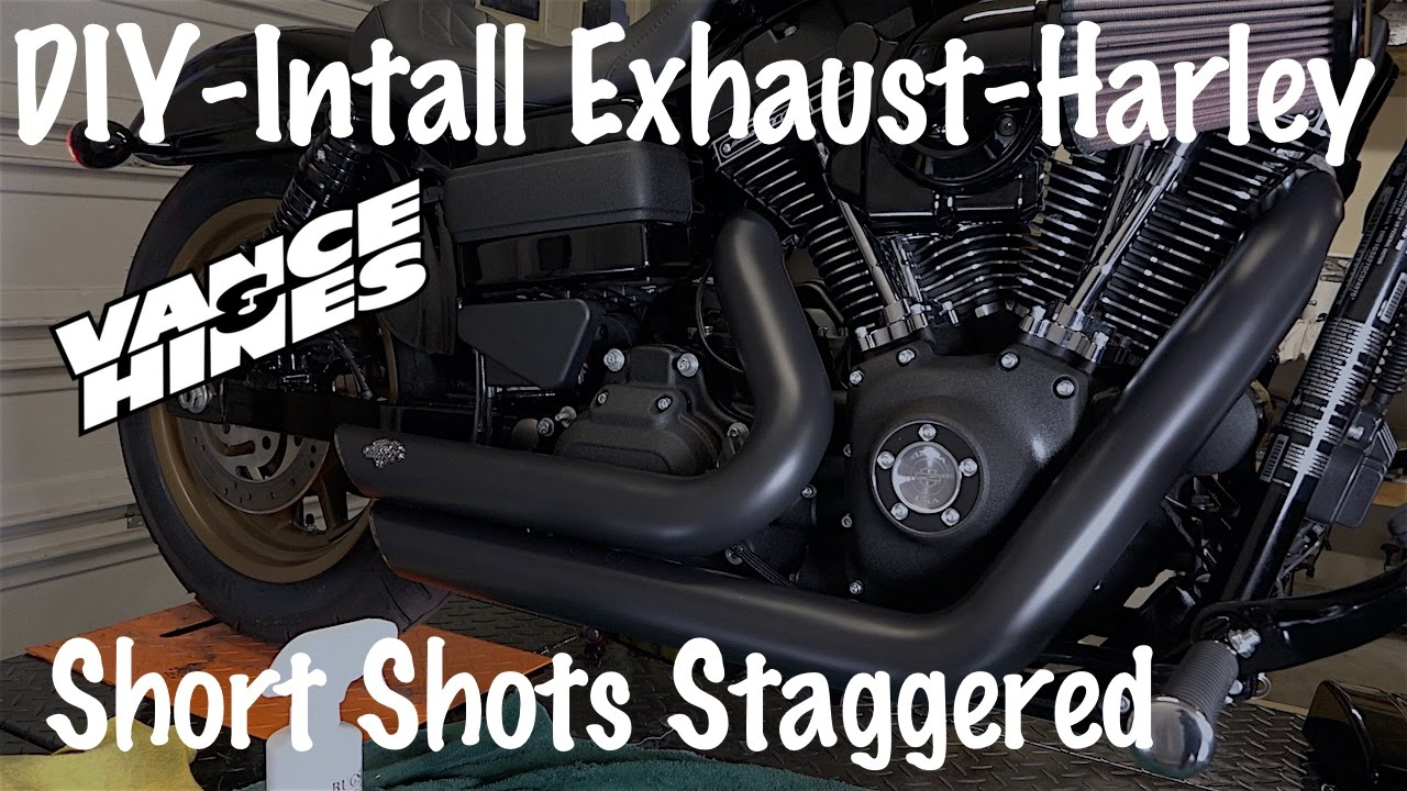 Install Vance & Hines Short Shots Staggered Exhaust on a