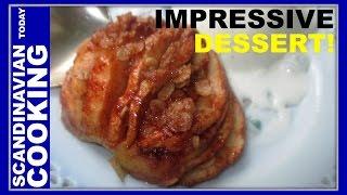 HASSELBACK APPLE RECIPE - How To Make Tasty Hasselback Apple Dessert!