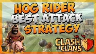 How to attack with hog riders - (tutorial For TH7,8)