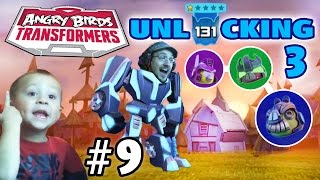 Dad & Chase play Angry Birds Transformers! Level 131 + Unlocking 3 Again! (Part 9)(Been waiting forever to do this video! Now, finally, we unlock 3 more goodies! Energon Optimus Prime, Energon Lockdown & Energon Galvatron from Level 80, ..., 2015-01-08T21:12:24.000Z)