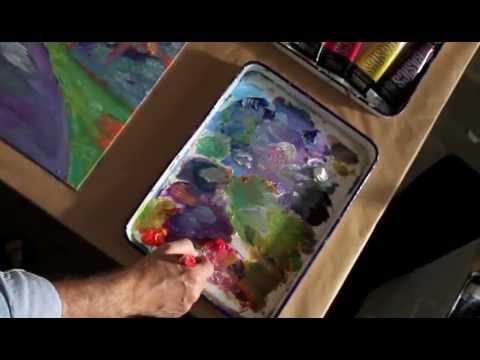 Vivid Impressionist artist David Lloyd Glover Documentary on Art amd Coin TV