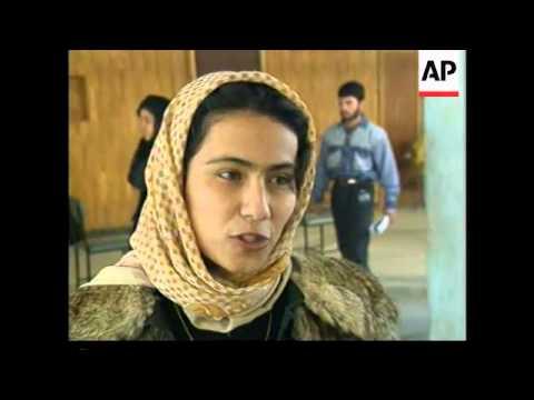 Women in Mazar-i-Sharif take university entrance exam