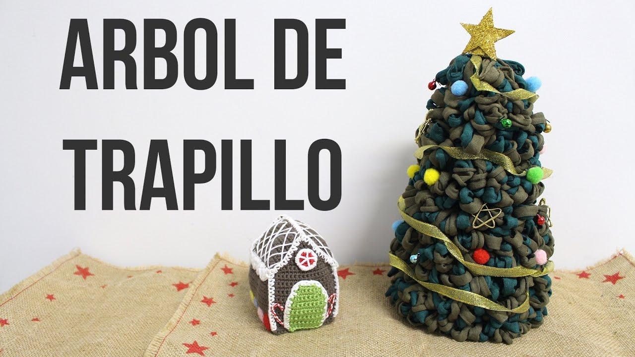Arbol de Navidad de Trapillo sin tejer | Súper fácil - YouTube