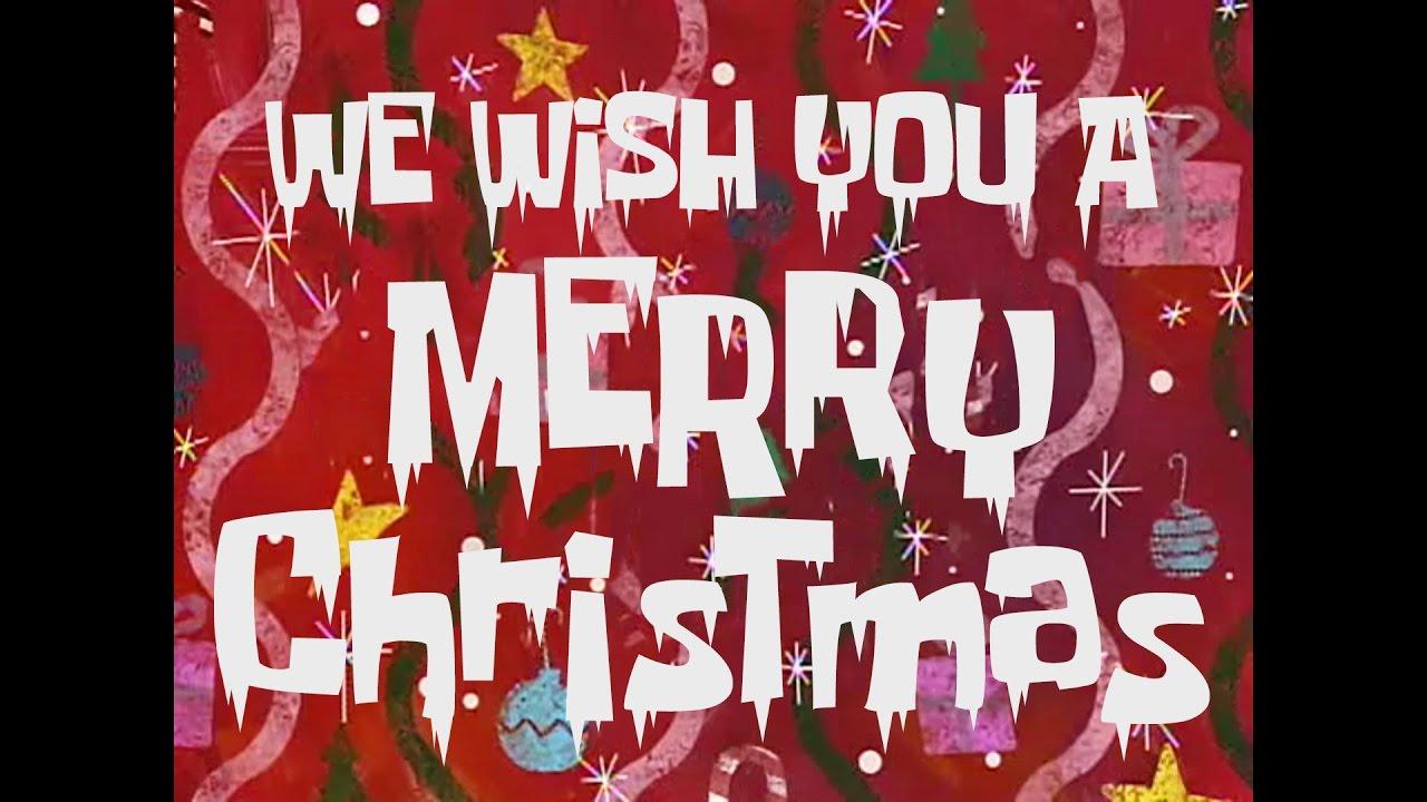 SpongeBob Music: We Wish You a Merry Christmas - YouTube