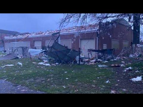Damage left behind following severe weather, tornado warnings in ...